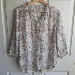 Madewell Turkish Garden Popover Top Blouse Size XS